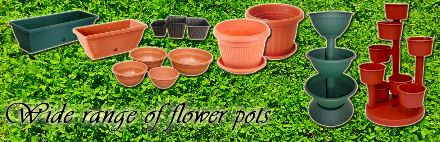 Wide range of flower pots