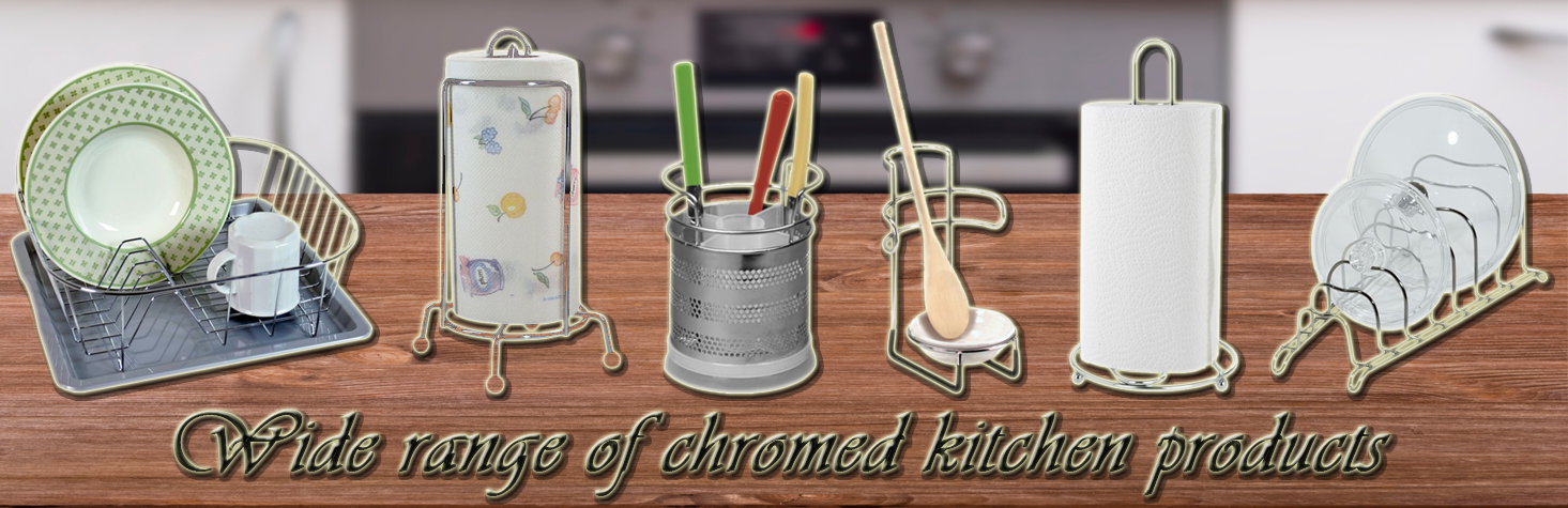 Wide range of chromed kitchen products
