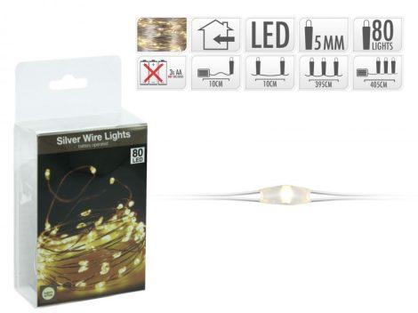 LED christmas light, warm white, 20pcs, use with battery