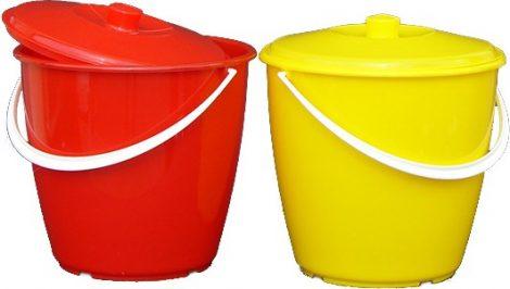 Plastic bucket with handle 10 liters