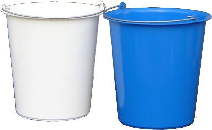 Bucket with metal handle 5 liters