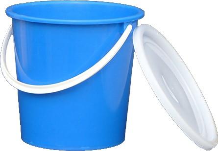 Bucket with plastic handle 8 liters