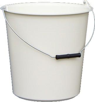 Vödör fém füllel 12 literes