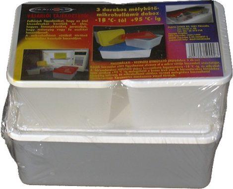 Hűtősdoboz 3 darabos