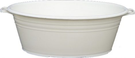 Lightweight oval harvesting tub 75 liters
