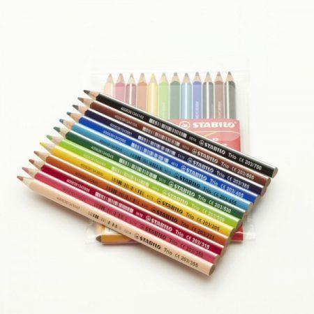 STABILO Trio vastag színesceruza 12 darab/csomag