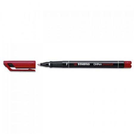 STABILO OHPen permanent 'F' 0,7mm piros