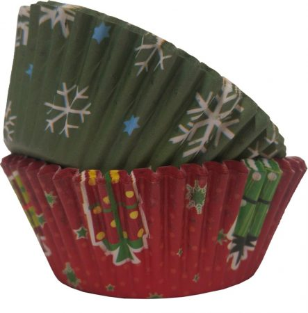 Muffin shape with christmas decor