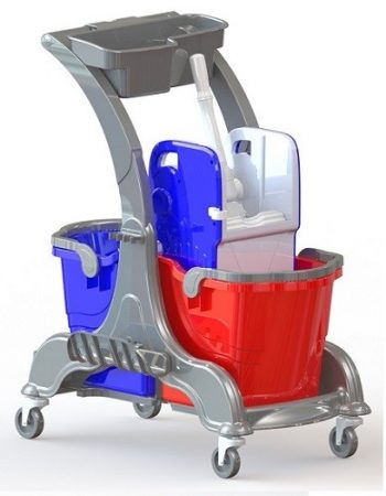 Cleaning trolley 2x25 liters
