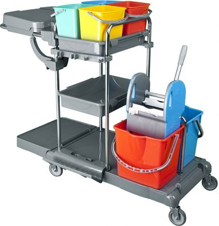 Cleaning trolley 2x25 + 4x5 liters