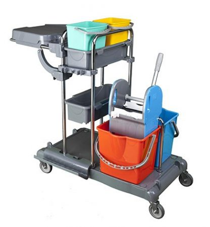 Cleaning trolley 2x25 + 2x5 liters