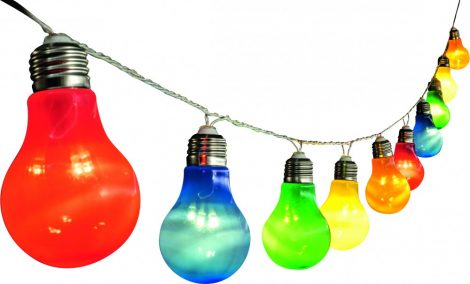 LED bulb, pear shape, color, 10pcs, 230V
